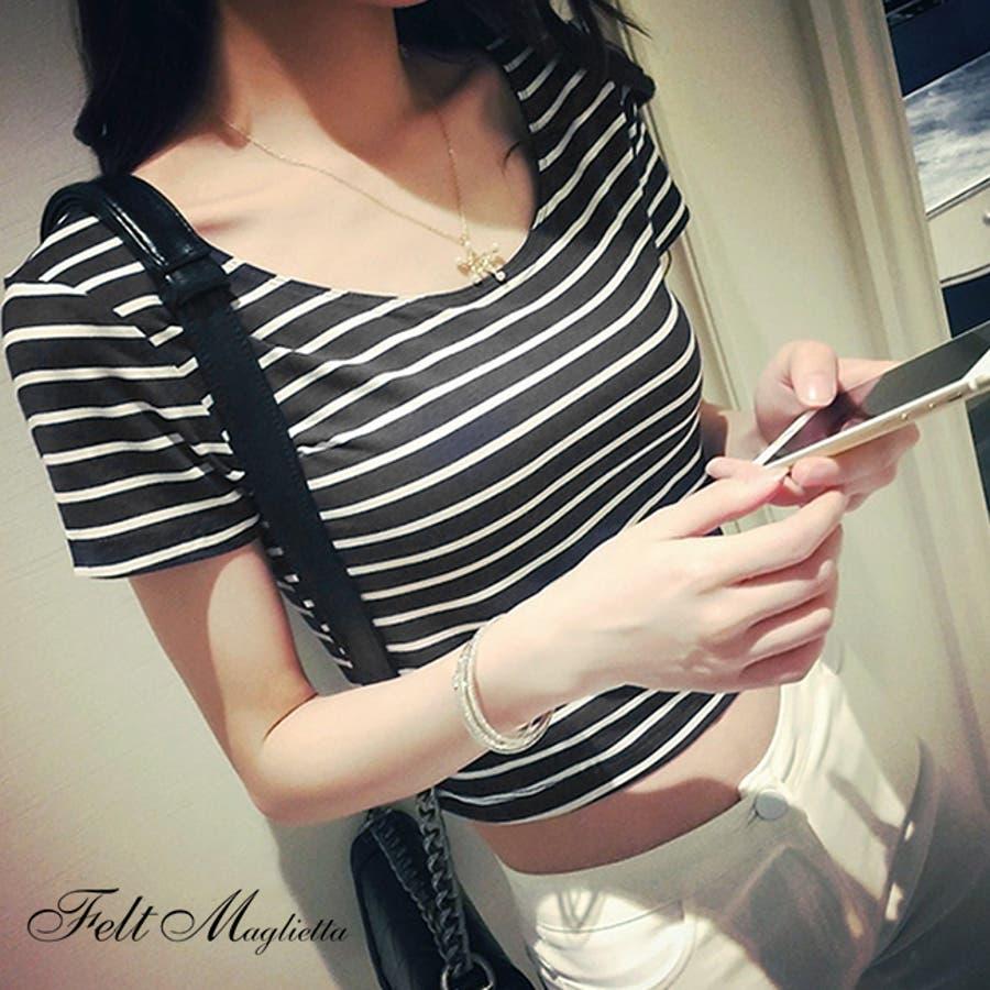 夏に大活躍間違いなしショート丈Tシャツ!可愛いへそ出しスタイル 21