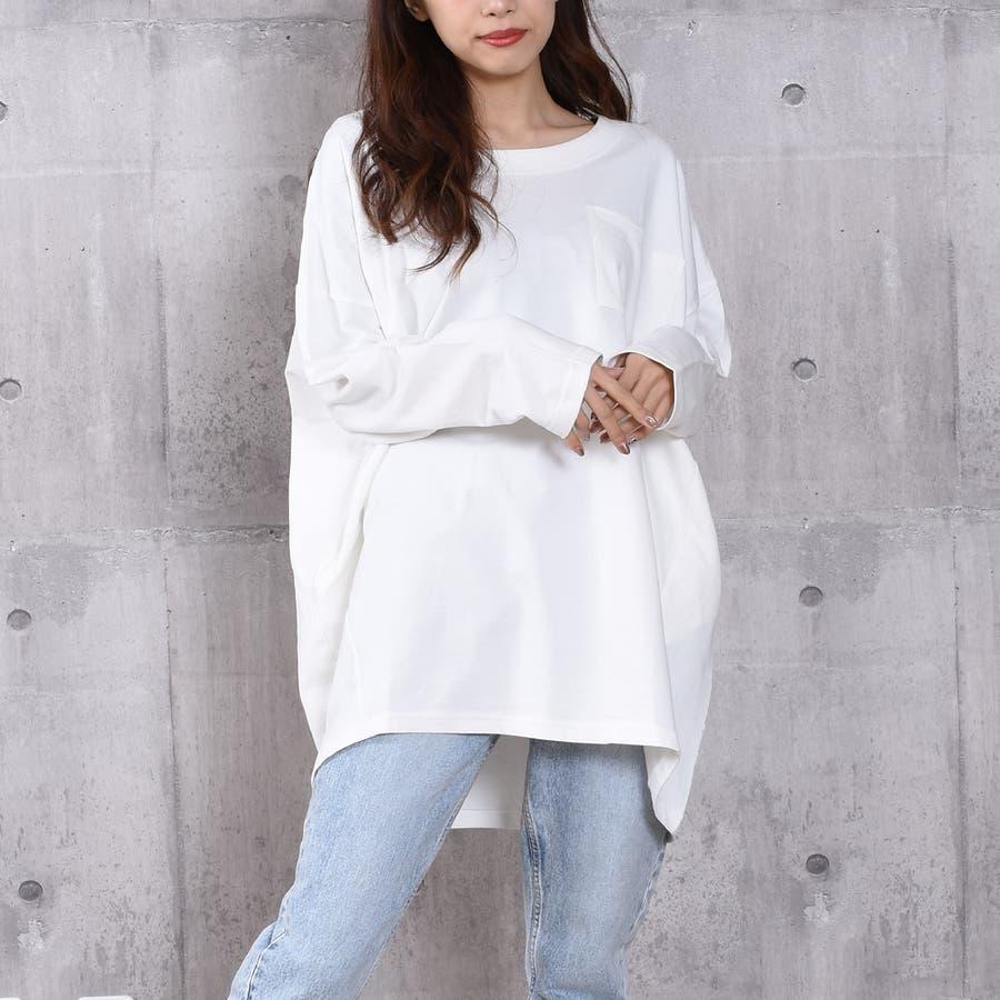 2020新作 ミニ裏毛ビッグシルエットコクーンTシャツ 17