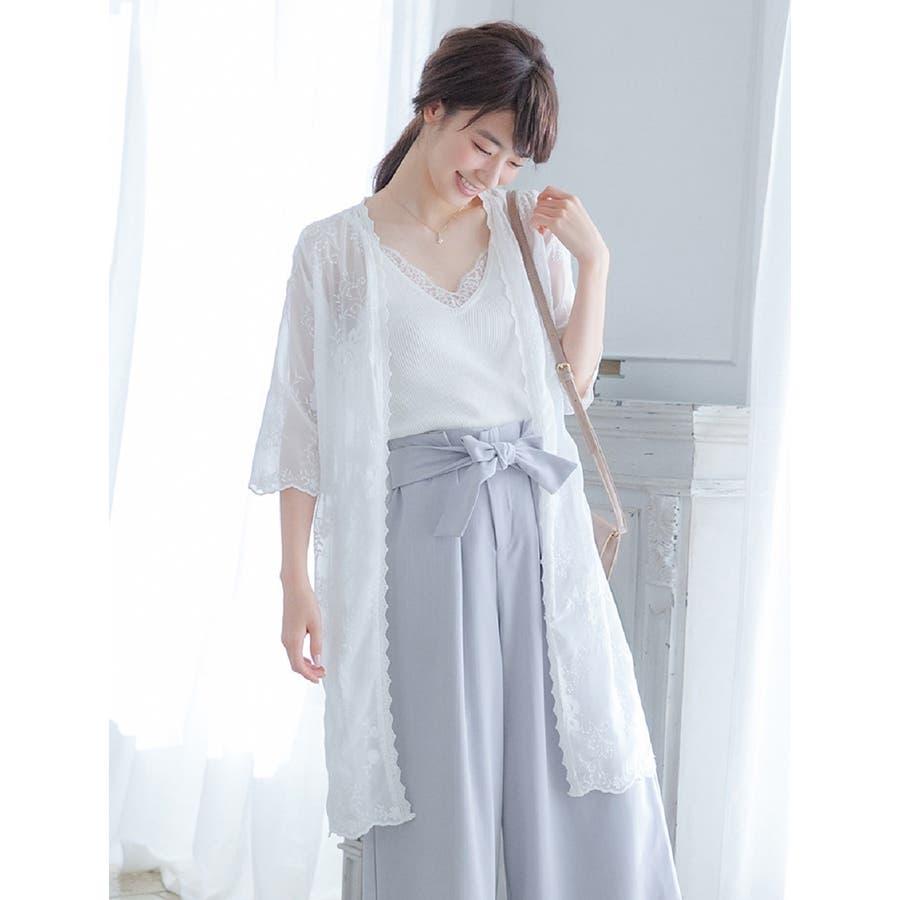 刺繍レースロングガウン/春 夏 春物 spring summer SS 春先行 9