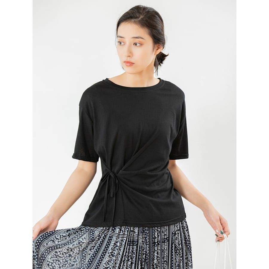 サイドリボンTシャツ/秋 冬 秋冬 AW autumn winter 先行 1