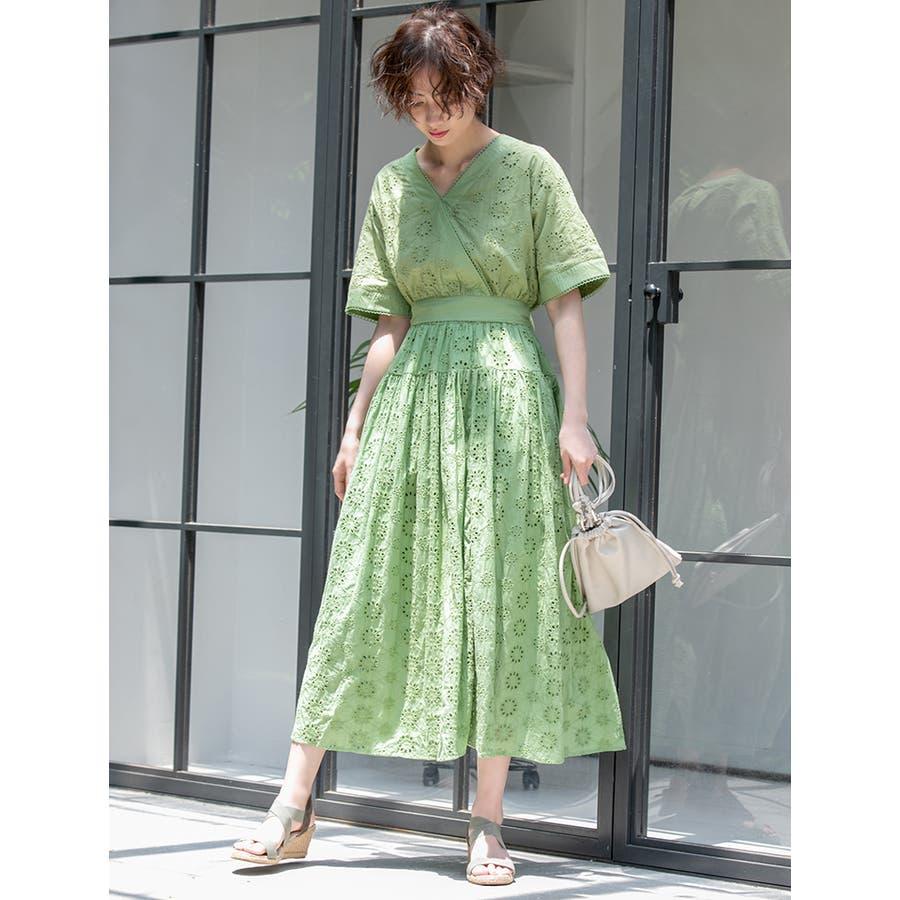 コットンレースフレアスカート/春夏 SS spring summer 先行 47