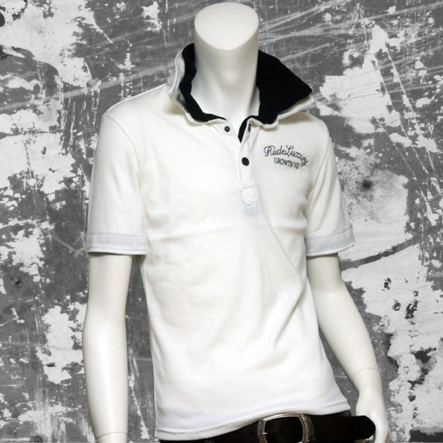 値段の割にかっこいい メンズファッション通販ポロシャツ メンズ ダブル衿 半袖ポロ 132-2166-w  夏物  夏に最適 怪異