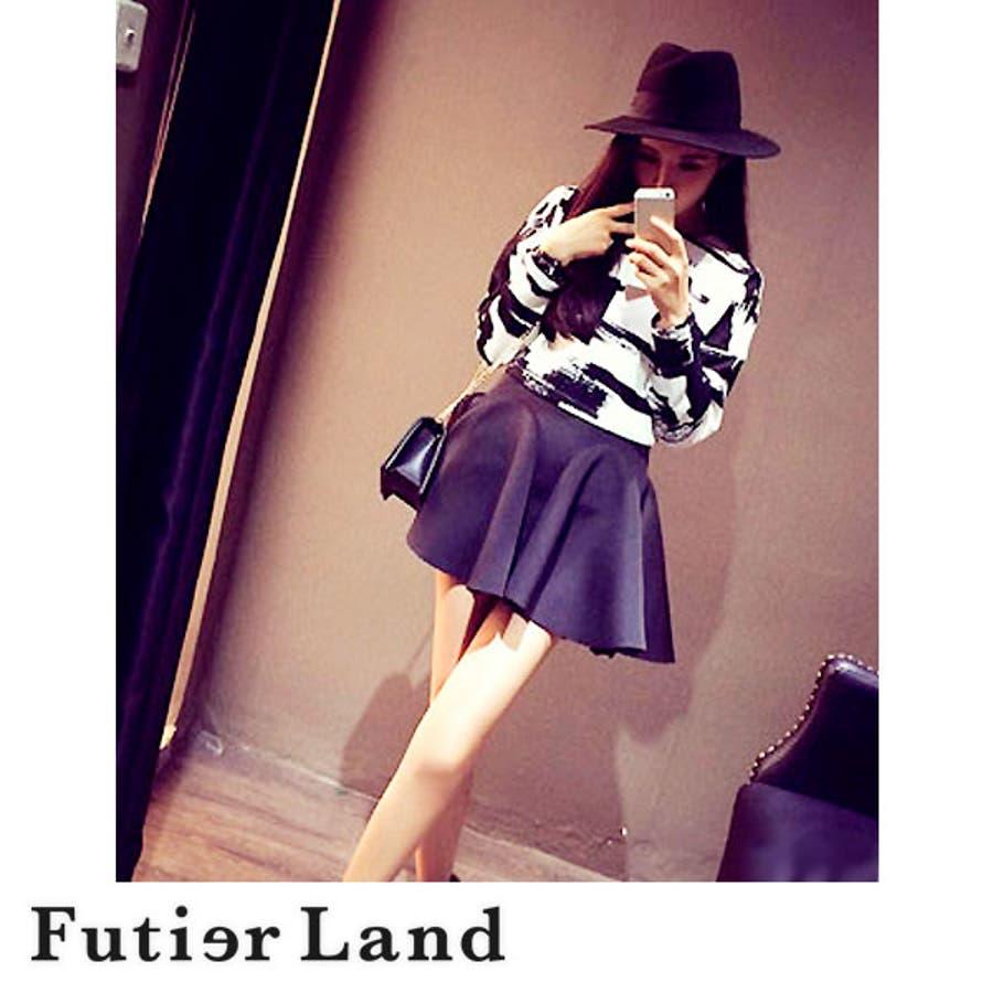 春トップス 長袖 大人かわいい シンプル モード かっこいい クール 上品 韓国ファッション 黒 白 ブラック ホワイト