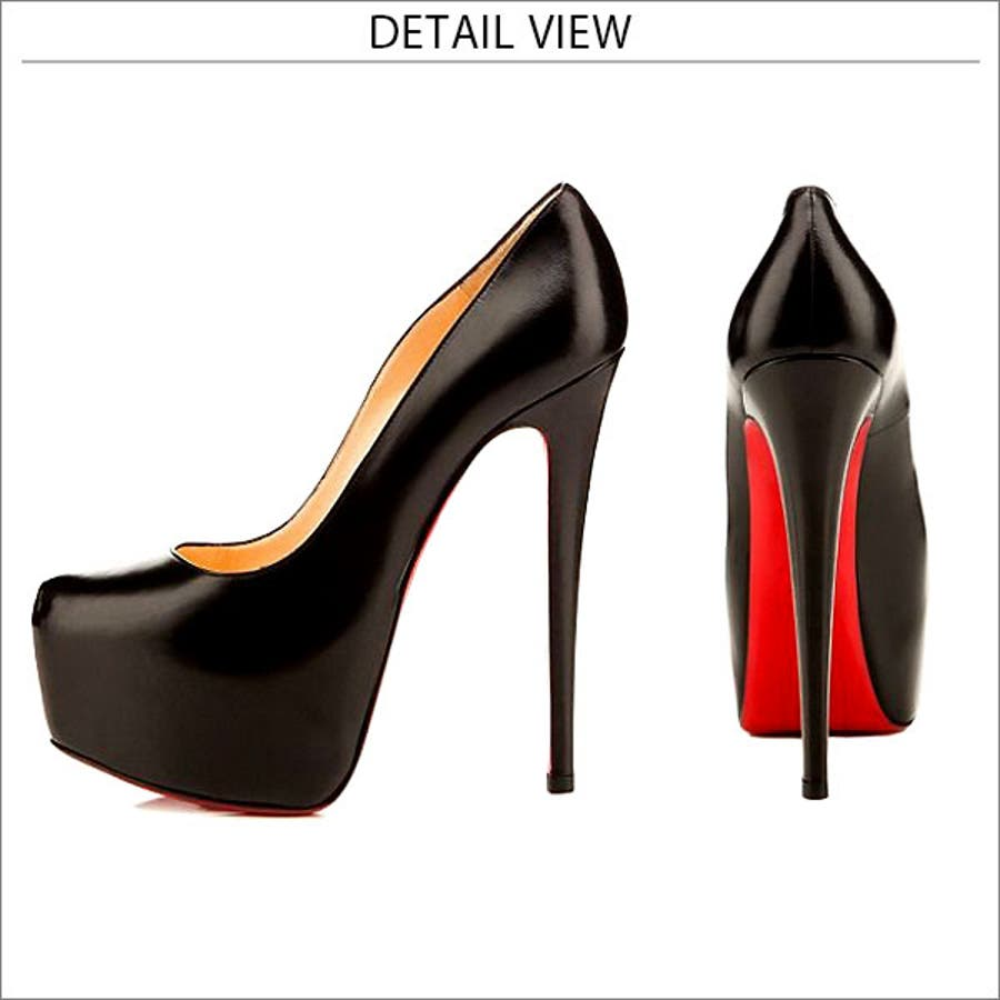 【春先行】パンプス 上品 大人 かわいい 高級感 ブランド クリスチャン ルブタン風 赤靴