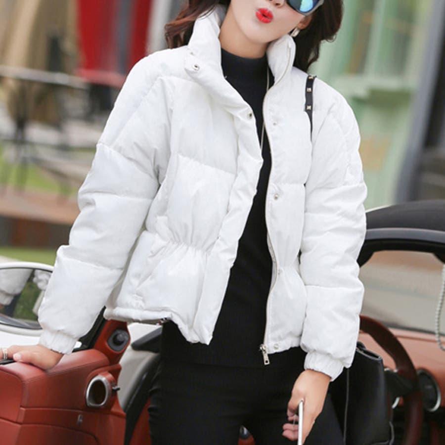 【秋冬レディース】ダウンジャケット 中綿ジャケット ジャンパー シンプル 防寒対策 保温 暖か 大人可愛い