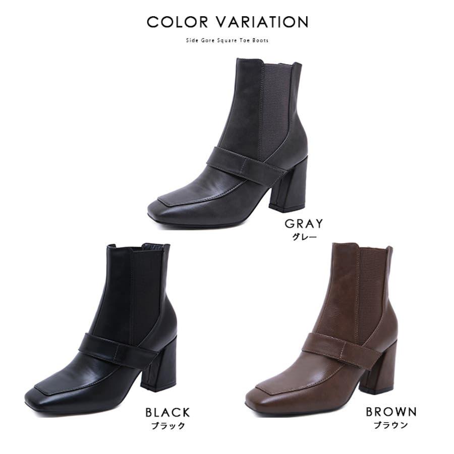 ショートブーツ ブーツ スクエアトゥ 3