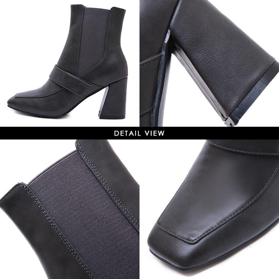 ショートブーツ ブーツ スクエアトゥ 6