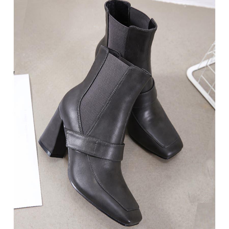 ショートブーツ ブーツ スクエアトゥ 7