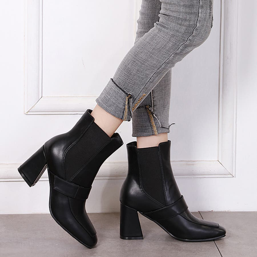 ショートブーツ ブーツ スクエアトゥ 21