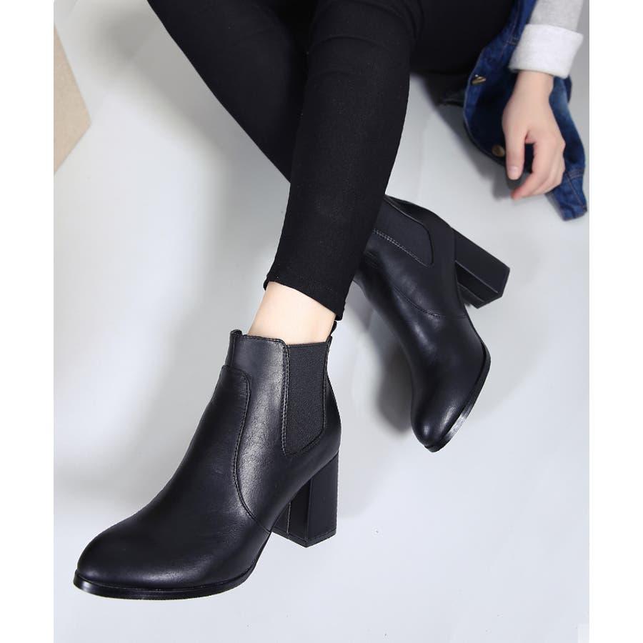 ショートブーツ 靴 サイドゴア 21