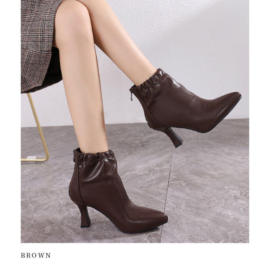 【秋冬新作】 ブーツ ショートブーツ ギャザーブーツ ソフトギャザー 靴 裏ボア シューズ 韓国 ファッション /ソフトギャザーブーツ 4