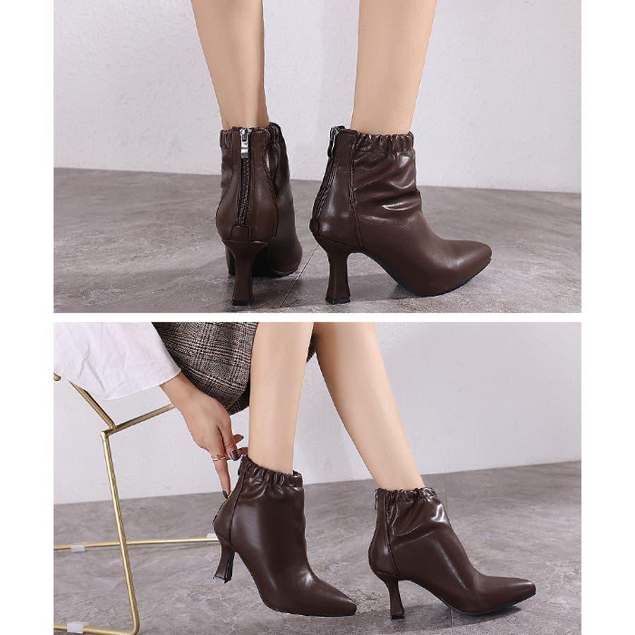 【秋冬新作】 ブーツ ショートブーツ ギャザーブーツ ソフトギャザー 靴 裏ボア シューズ 韓国 ファッション /ソフトギャザーブーツ 5