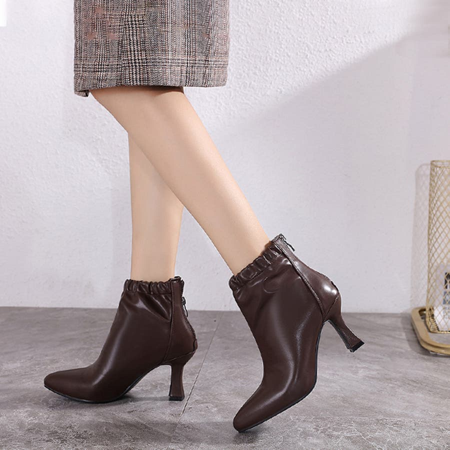 【秋冬新作】 ブーツ ショートブーツ ギャザーブーツ ソフトギャザー 靴 裏ボア シューズ 韓国 ファッション /ソフトギャザーブーツ 6