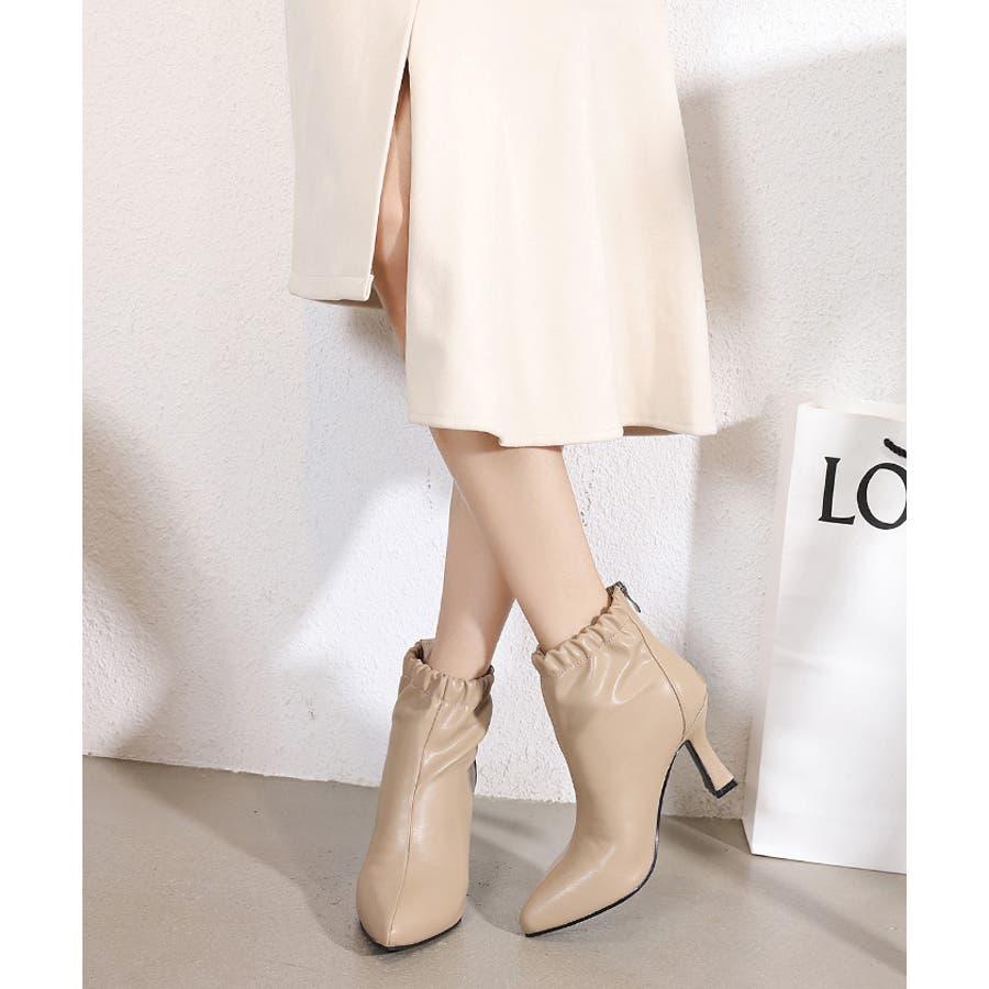 【秋冬新作】 ブーツ ショートブーツ ギャザーブーツ ソフトギャザー 靴 裏ボア シューズ 韓国 ファッション /ソフトギャザーブーツ 41