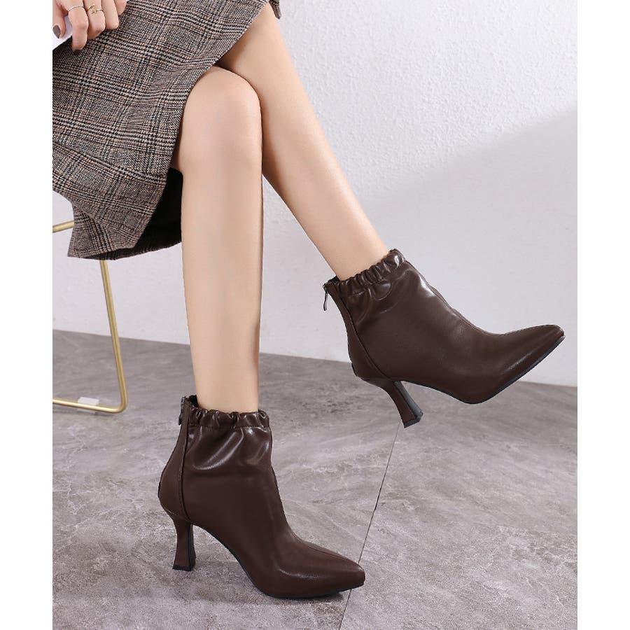【秋冬新作】 ブーツ ショートブーツ ギャザーブーツ ソフトギャザー 靴 裏ボア シューズ 韓国 ファッション /ソフトギャザーブーツ 29