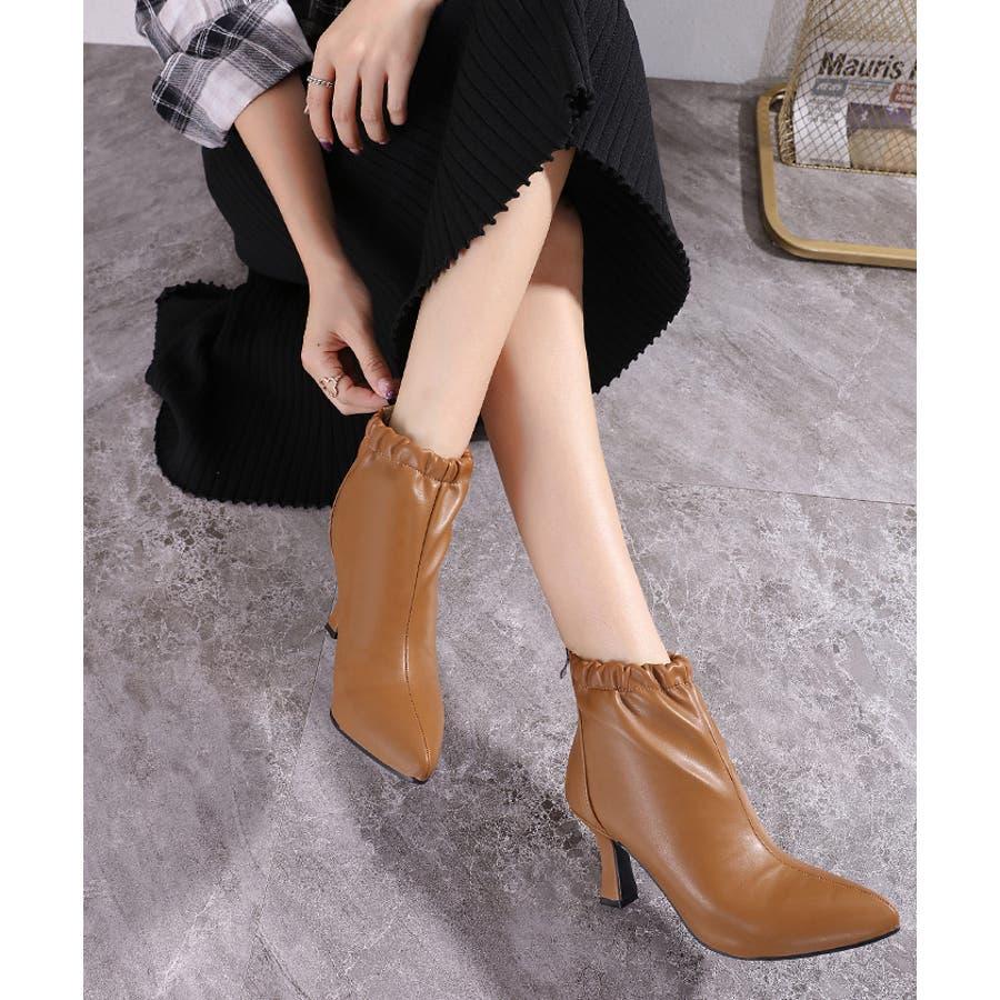 【秋冬新作】 ブーツ ショートブーツ ギャザーブーツ ソフトギャザー 靴 裏ボア シューズ 韓国 ファッション /ソフトギャザーブーツ 33