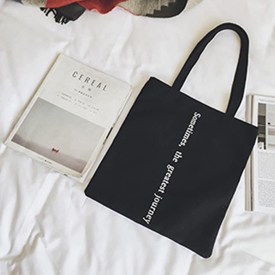 【秋冬新作】 キャンバストートバッグ トートバッグ バッグ キャンバス エコバッグ ロゴ 韓国 ファッション /ポイントプリントキャンバストートバッグ 5