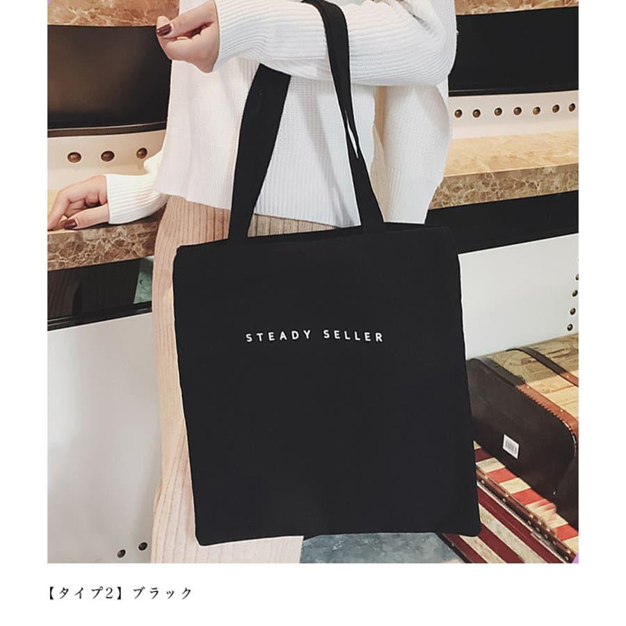 【秋冬新作】 キャンバストートバッグ トートバッグ バッグ キャンバス エコバッグ ロゴ 韓国 ファッション /ポイントプリントキャンバストートバッグ 6