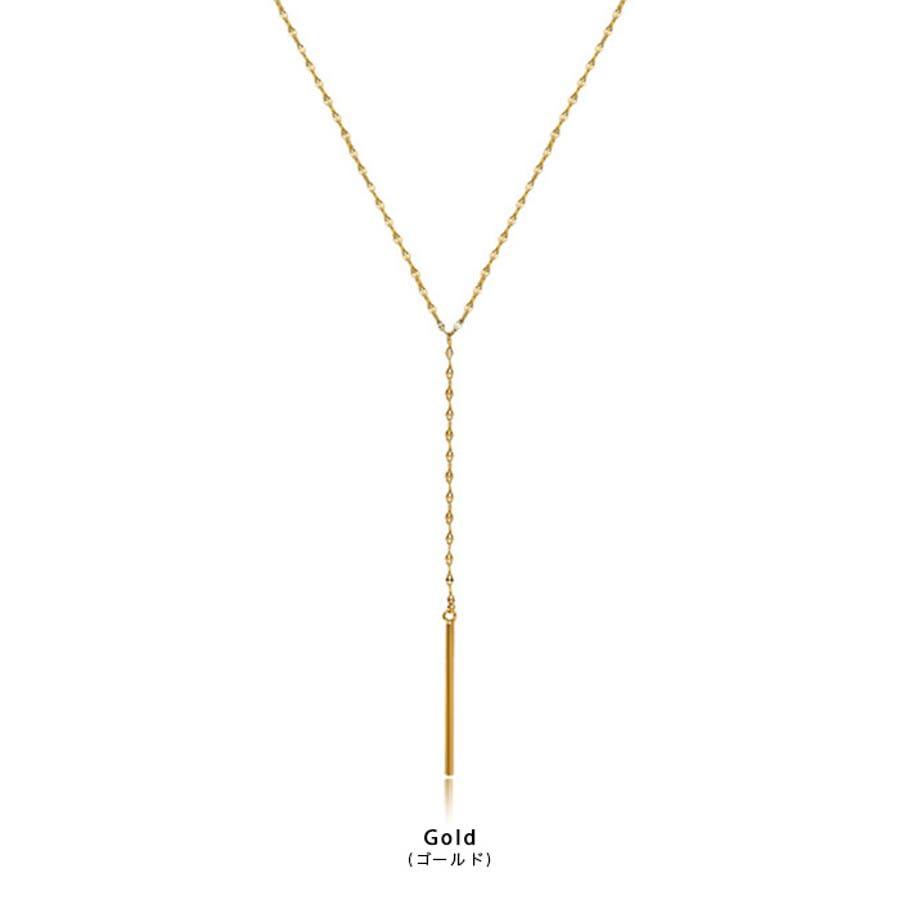【秋冬新作】 ネックレス ロングネックレス スティック アクセサリー ファッション雑貨 ゴールド 韓国 ファッション/スティックロングネックレス 4