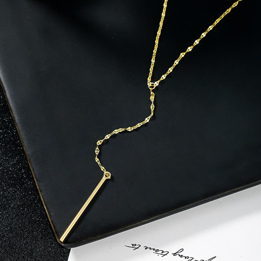 【秋冬新作】 ネックレス ロングネックレス スティック アクセサリー ファッション雑貨 ゴールド 韓国 ファッション/スティックロングネックレス 5