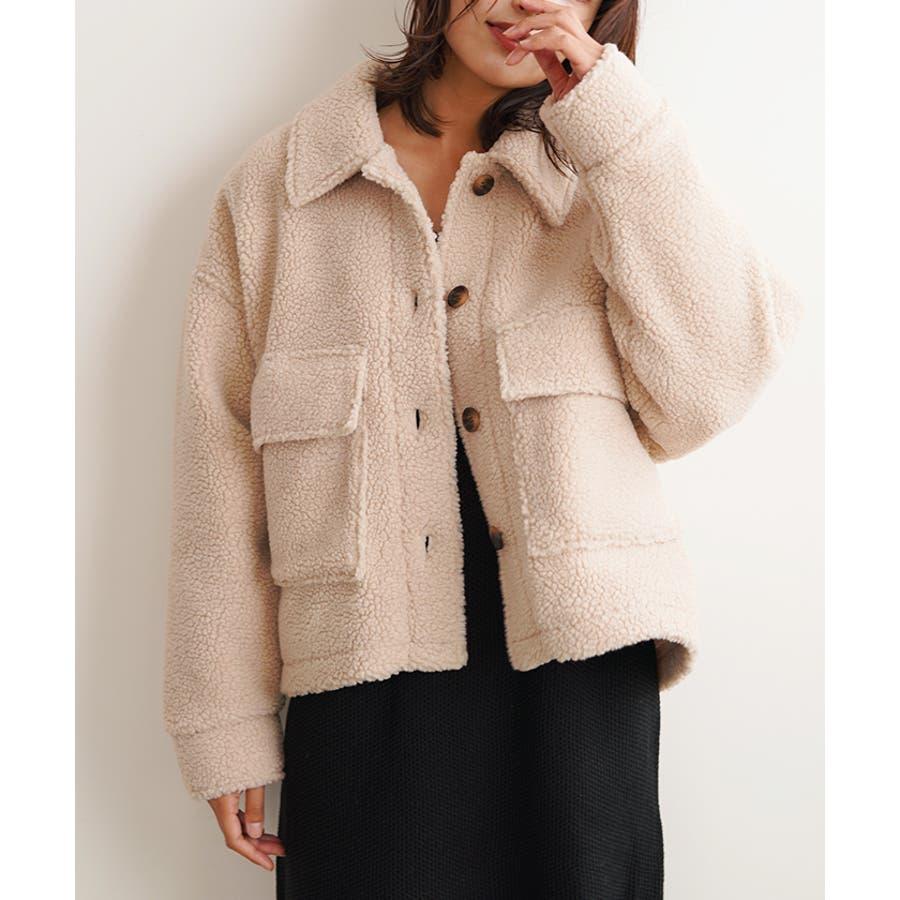 【秋冬新作】 ボア CPOジャケット ジャケット オーバーサイズ ワイド アウター コート 羽織 韓国 ファッション /ワイドボアCPOジャケット 41