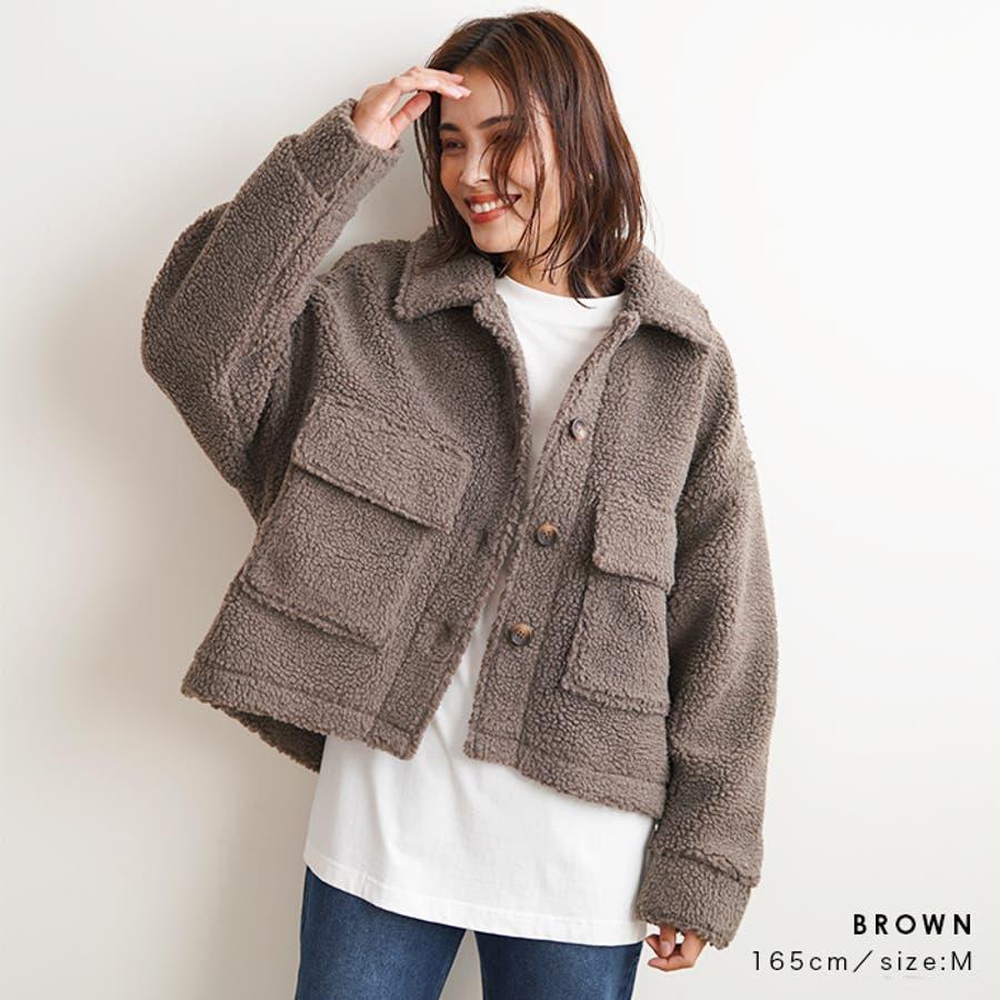 【秋冬新作】 ボア CPOジャケット ジャケット オーバーサイズ ワイド アウター コート 羽織 韓国 ファッション /ワイドボアCPOジャケット 4