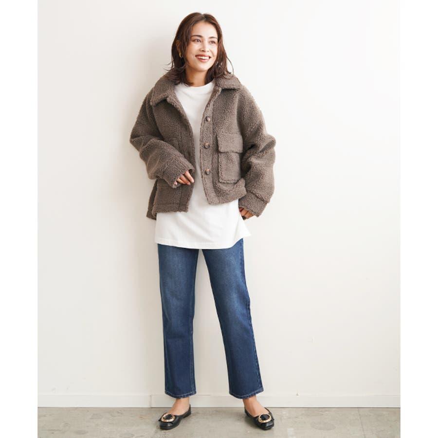 【秋冬新作】 ボア CPOジャケット ジャケット オーバーサイズ ワイド アウター コート 羽織 韓国 ファッション /ワイドボアCPOジャケット 6