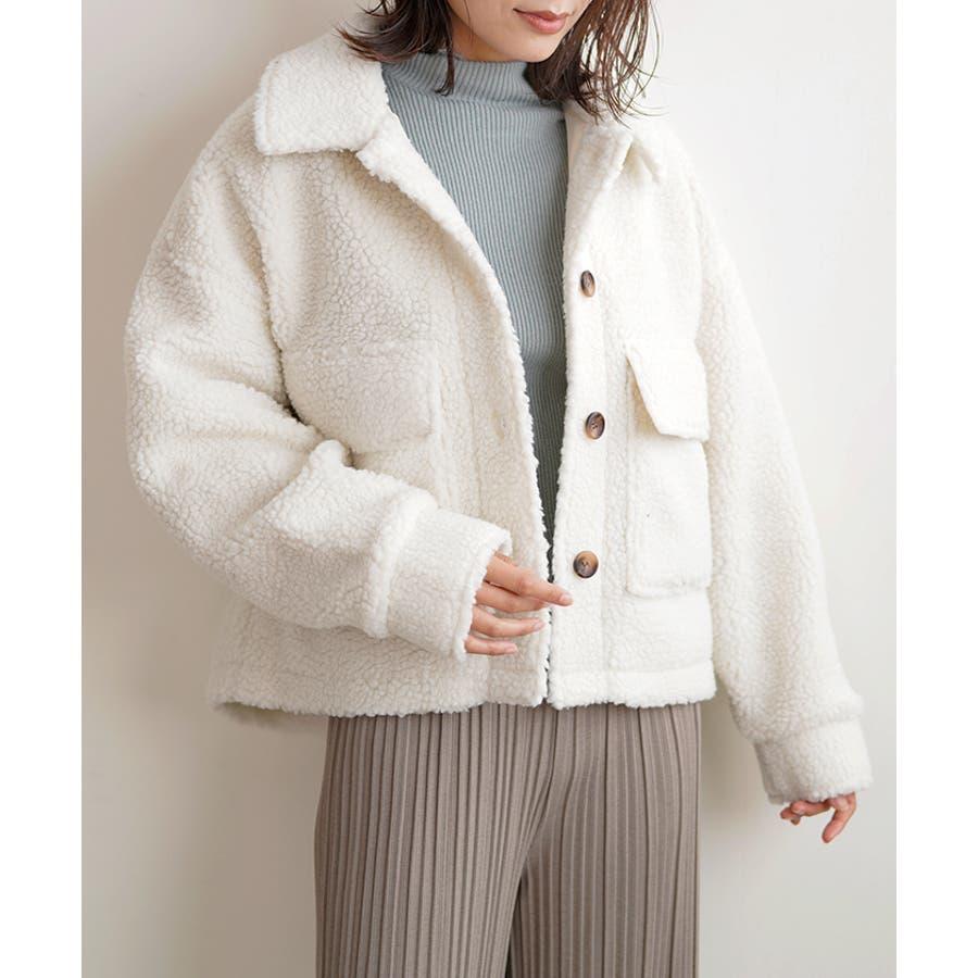 【秋冬新作】 ボア CPOジャケット ジャケット オーバーサイズ ワイド アウター コート 羽織 韓国 ファッション /ワイドボアCPOジャケット 18