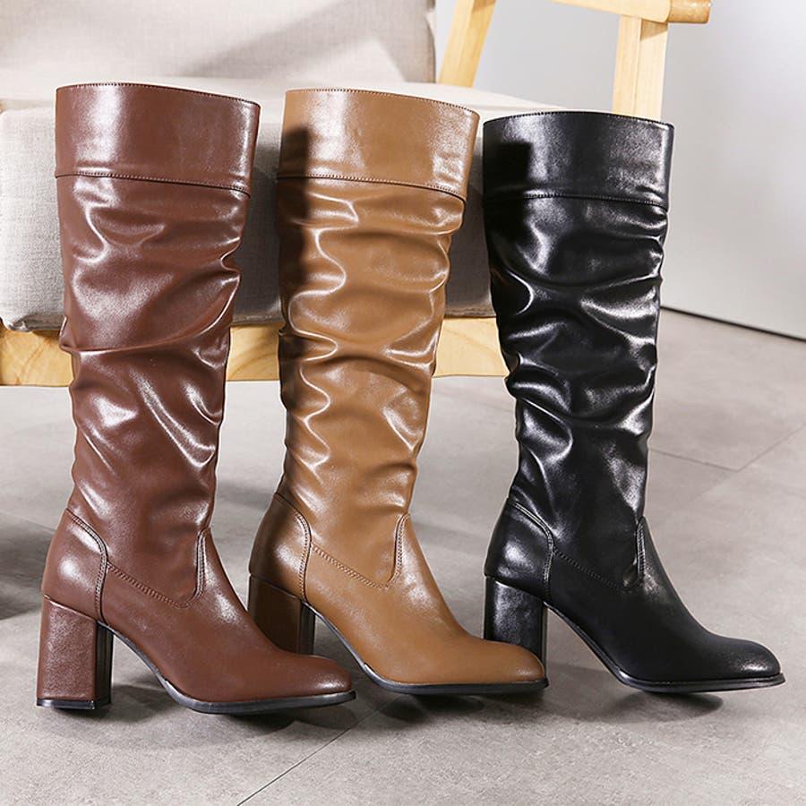 ロングブーツ ギャザーブーツ ブーツ 2