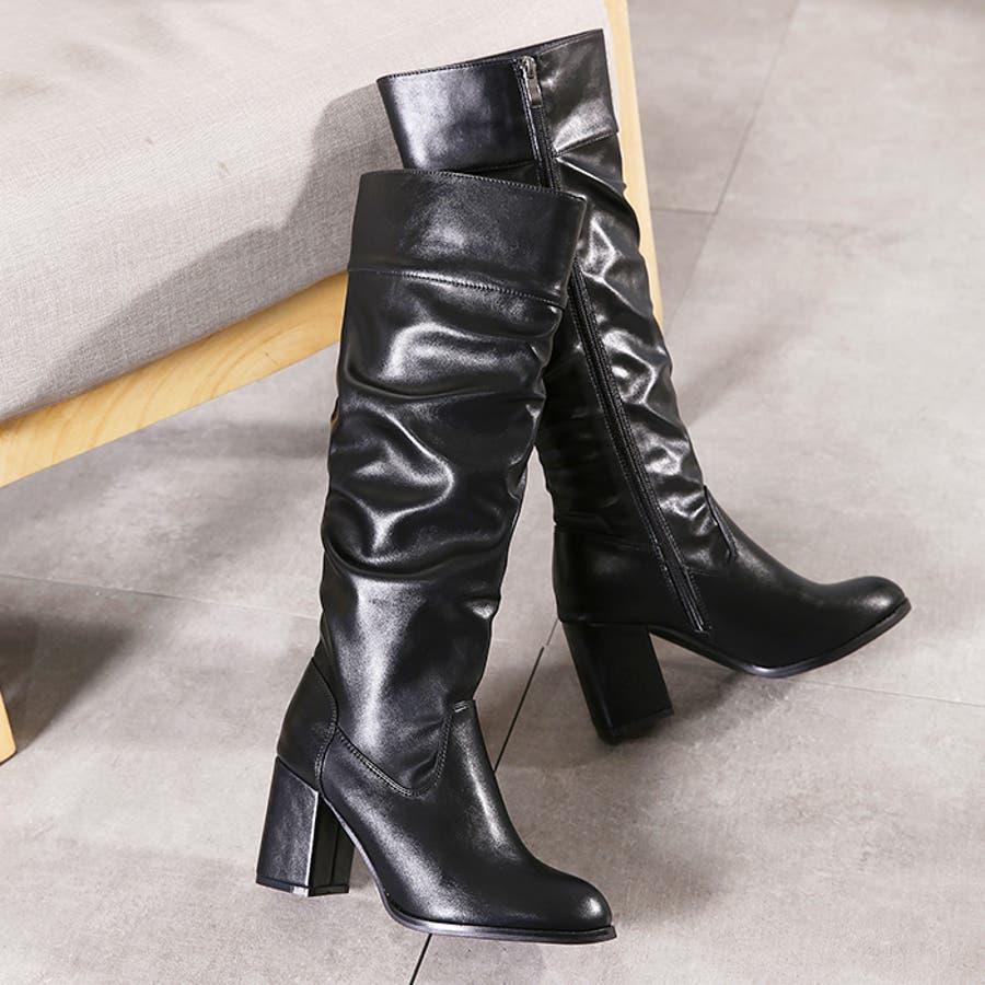 ロングブーツ ギャザーブーツ ブーツ 6