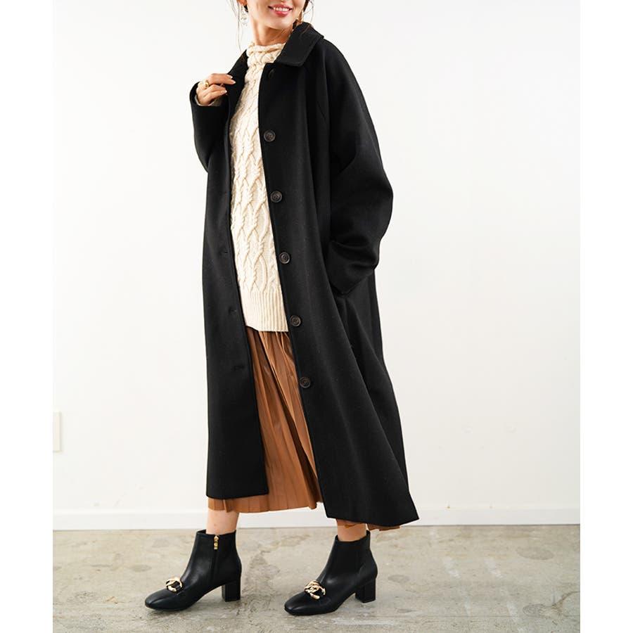フェイクウールコート ステンカラーコート コート 21