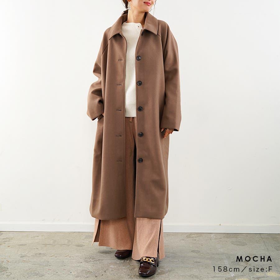 フェイクウールコート ステンカラーコート コート 4