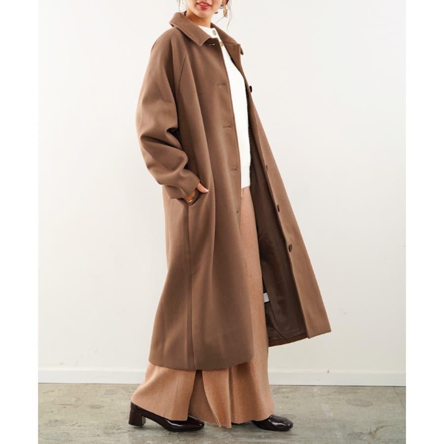 フェイクウールコート ステンカラーコート コート 5