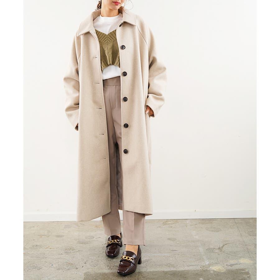 フェイクウールコート ステンカラーコート コート 18