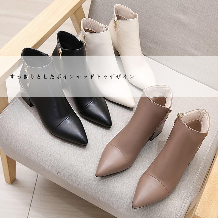 ショートブーツ ブーツ サイドボタン 3