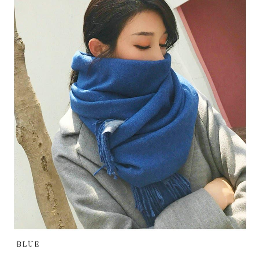 【秋冬新作】 マフラー リバーシブル ロングマフラー ストール ファッション雑貨 韓国 ファッション / リバーシブルロングマフラー 4
