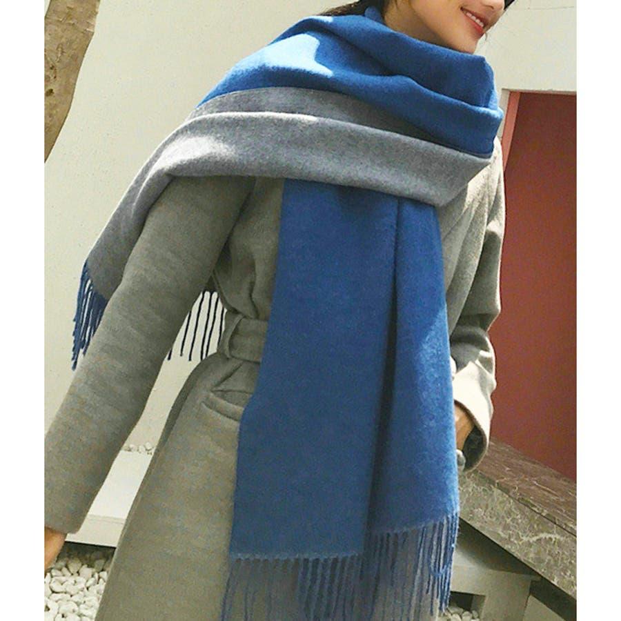 【秋冬新作】 マフラー リバーシブル ロングマフラー ストール ファッション雑貨 韓国 ファッション / リバーシブルロングマフラー 5
