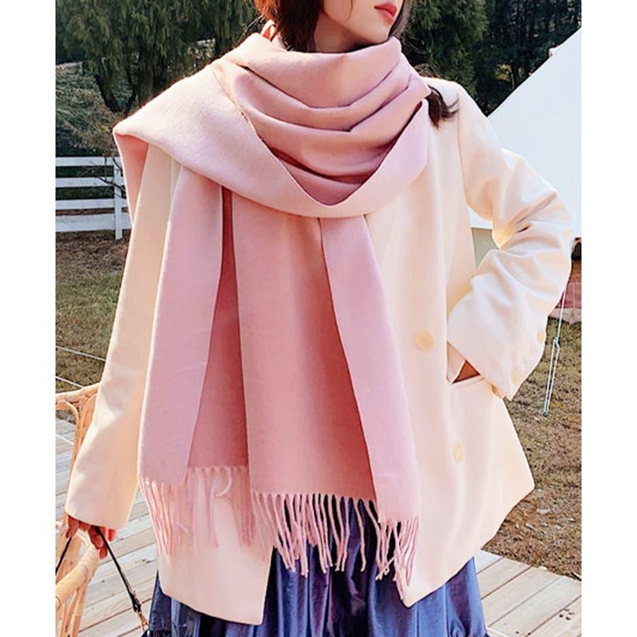 【秋冬新作】 マフラー リバーシブル ロングマフラー ストール ファッション雑貨 韓国 ファッション / リバーシブルロングマフラー 87