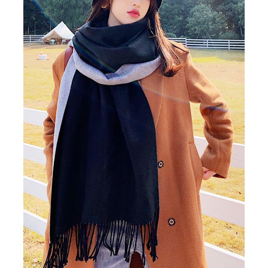 【秋冬新作】 マフラー リバーシブル ロングマフラー ストール ファッション雑貨 韓国 ファッション / リバーシブルロングマフラー 21