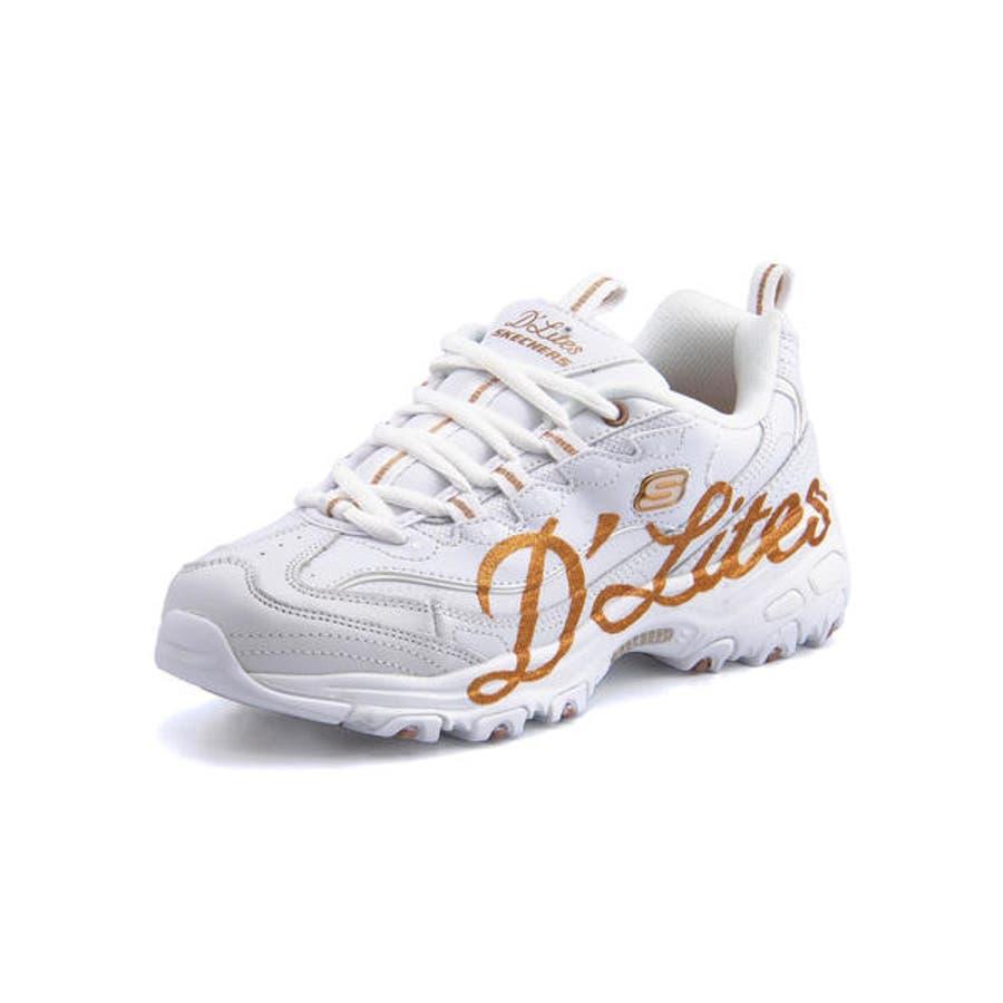 Skechers Women/'s D/'Lites Shoe in White in Sizes 5 to 12