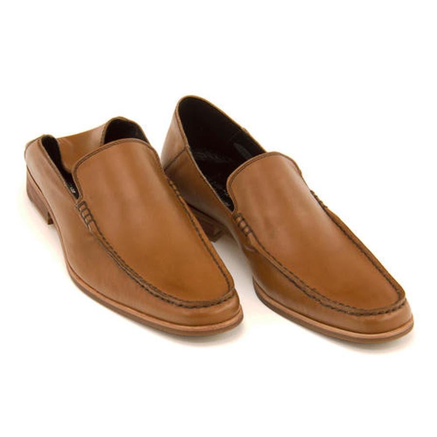 Whoop-de-doo(フープディドゥ) メンズ Uモカスリッポン 304764 キャメル | ビジネスシューズ メンズビジネスビジネス シューズ 靴 くつ ビジネス靴 仕事 ワークシューズ 紳士靴 紳士 おしゃれ ビジネスマン 男性 通勤メンズビジネスシューズ メンズシューズ ローカット 2