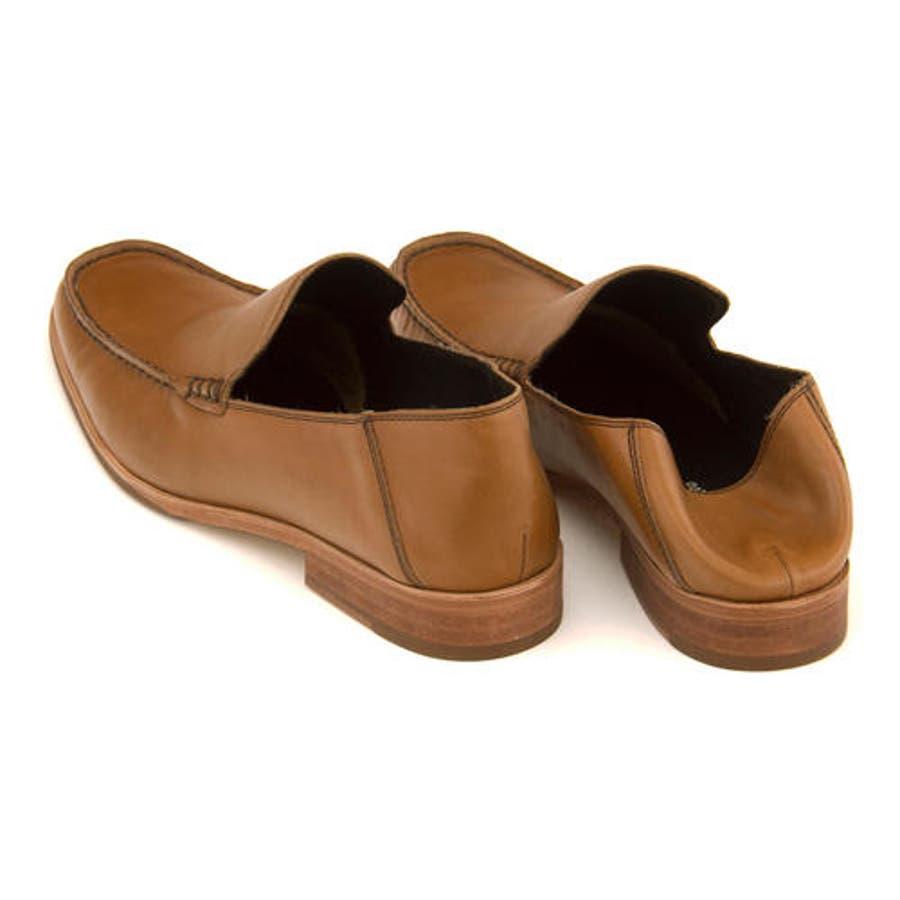 Whoop-de-doo(フープディドゥ) メンズ Uモカスリッポン 304764 キャメル | ビジネスシューズ メンズビジネスビジネス シューズ 靴 くつ ビジネス靴 仕事 ワークシューズ 紳士靴 紳士 おしゃれ ビジネスマン 男性 通勤メンズビジネスシューズ メンズシューズ ローカット 3