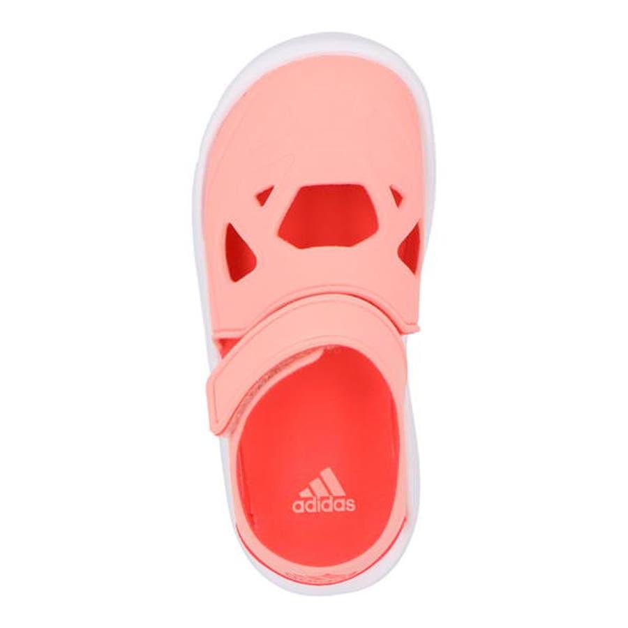 adidas アディダス FORTASWIM 2 C キッズサンダル【軽量】(フォルタスウィム2C) EG6711グローリーピンク/ショックレッド/フットウェアホワイト 5