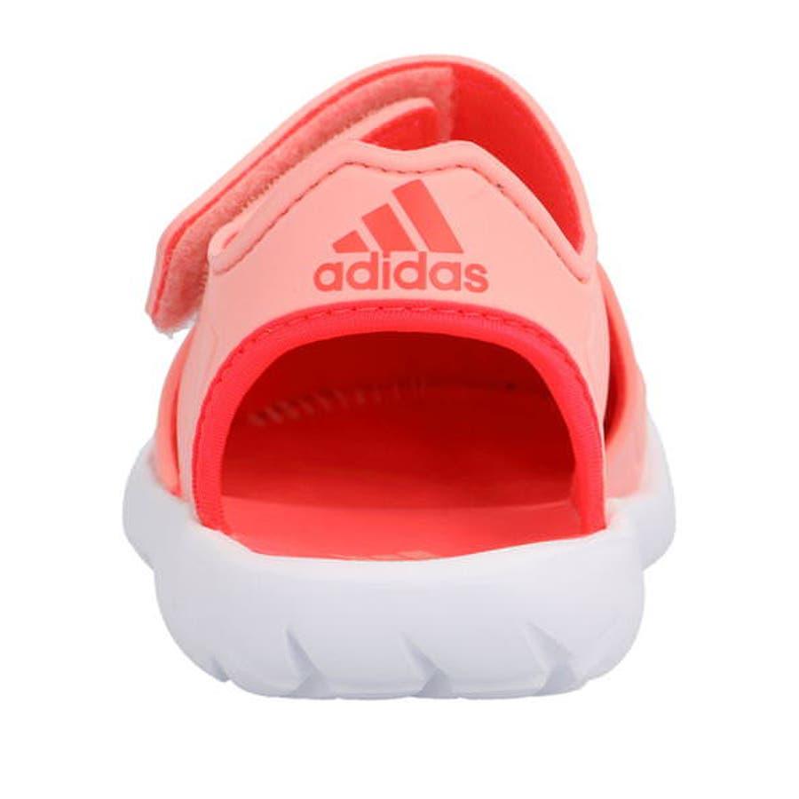 adidas アディダス FORTASWIM 2 C キッズサンダル【軽量】(フォルタスウィム2C) EG6711グローリーピンク/ショックレッド/フットウェアホワイト 8