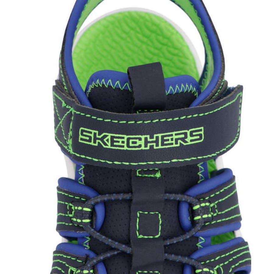 SKECHERS スケッチャーズ C-FLEX SANDAL 2.0-HEAT BLASTキッズサンダル【軽量】(Cフレックスサンダル2.0ヒートブラスト) 400041L NVLM ネイビー/ライム 7