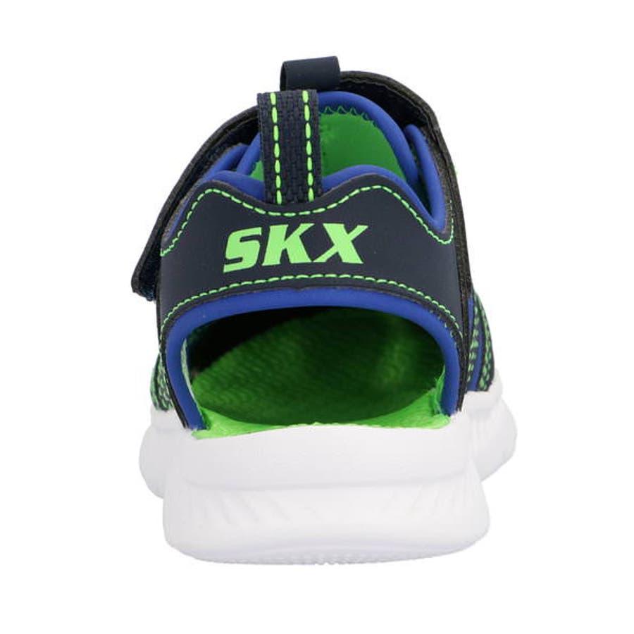 SKECHERS スケッチャーズ C-FLEX SANDAL 2.0-HEAT BLASTキッズサンダル【軽量】(Cフレックスサンダル2.0ヒートブラスト) 400041L NVLM ネイビー/ライム 8