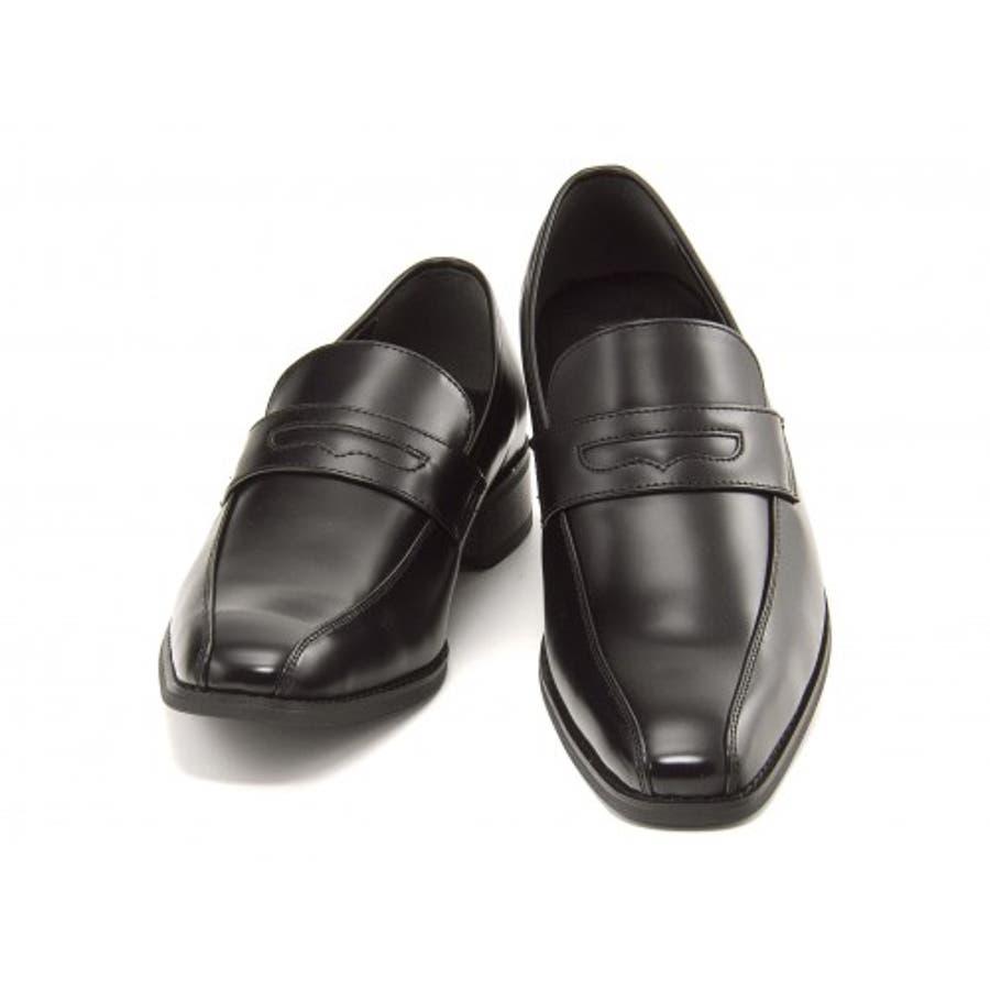 FOB ASBee(エフオービーアスビー) メンズ ビジネスシューズ 914340 ブラック|メンズビジネス ビジネス シューズ 靴くつ ビジネス靴 仕事 ワークシューズ 紳士靴 紳士 おしゃれ ビジネスマン 男性 通勤 メンズビジネスシューズ メンズシューズローカット ローカットシューズ 2