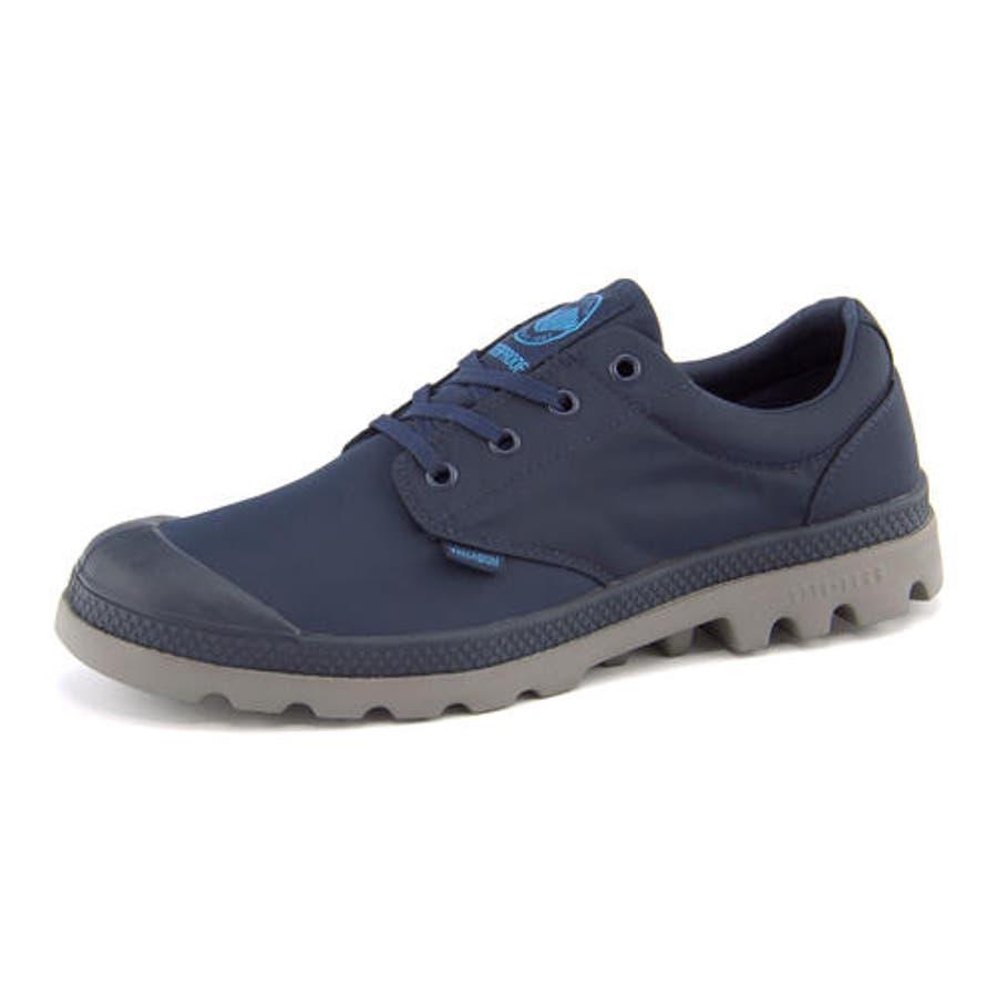 PALLADIUM(パラディウム) 【防水仕様】PAMPA OXFORD PUDDLE LITEWP(パンパオックスフォードパドルライトウォータープルーフ) 75427 418 ネイビー/メタル | シューズ スニーカー 靴メンズ ローカット ローカットスニーカー メンズスニーカー メンズシューズ カジュアル 1