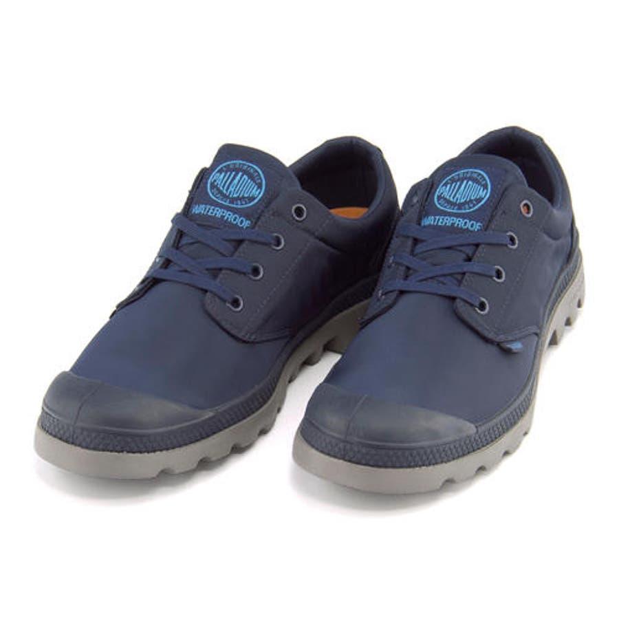 PALLADIUM(パラディウム) 【防水仕様】PAMPA OXFORD PUDDLE LITEWP(パンパオックスフォードパドルライトウォータープルーフ) 75427 418 ネイビー/メタル | シューズ スニーカー 靴メンズ ローカット ローカットスニーカー メンズスニーカー メンズシューズ カジュアル 2