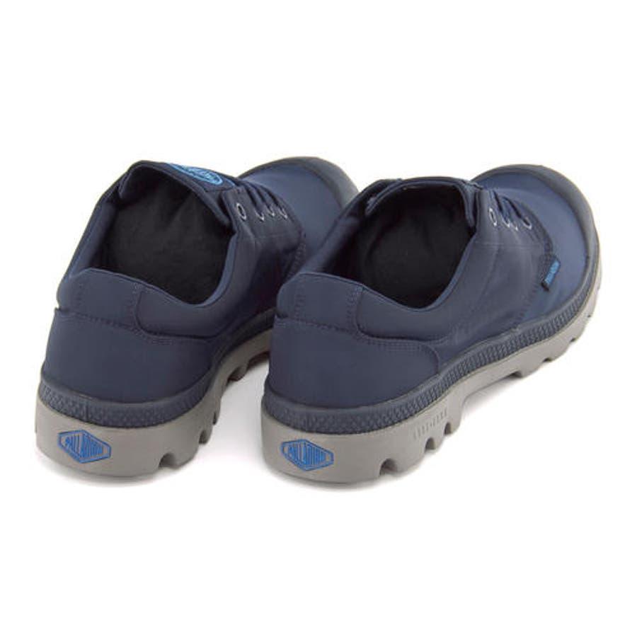 PALLADIUM(パラディウム) 【防水仕様】PAMPA OXFORD PUDDLE LITEWP(パンパオックスフォードパドルライトウォータープルーフ) 75427 418 ネイビー/メタル | シューズ スニーカー 靴メンズ ローカット ローカットスニーカー メンズスニーカー メンズシューズ カジュアル 3